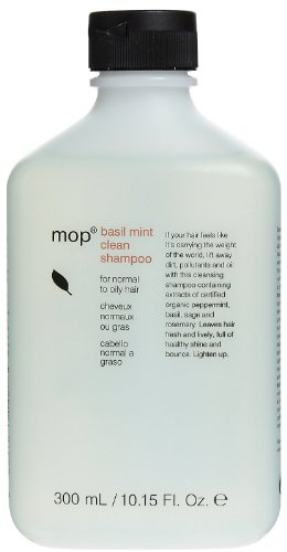 MOP by Modern Organics: BASIL MINT SHAMPOO FOR NORMAL TO OILY HAIR 10.1 (Mop Basil Mint)