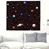Universe Galaxy Planets Tapestry Wall Hanging Starry Sky Wall Tapestry Tapestries Living Room Bedroom Dorm Decor 51x59 Inch