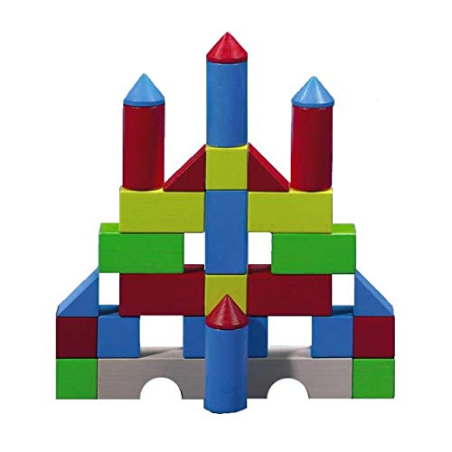 HABA Colored Building Blocks - 30 Piece Wooden Play Set (Made in Germany)
