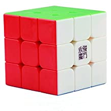 GoodPlay YongJun Yj Yulong 3x3 Speed Cube Stickerless 3D Intelligence Smooth Magic Cube Brain Teaser Puzzle Toys Colorized with One Cube Bag