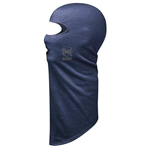 Buff foulard multifonction pour adulte en laine mérinos balaclava taille unique Bleu (plum)