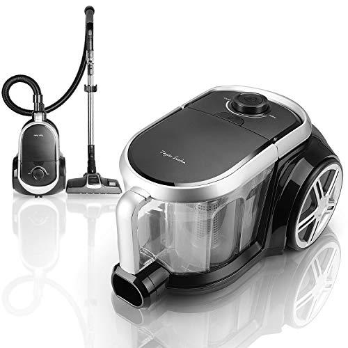 Taylor Swoden Katar – Aspirador sin bolsa 800W | Filtro HEPA, depósito 3 litros | Cepillo para alfombras y suelo duro…