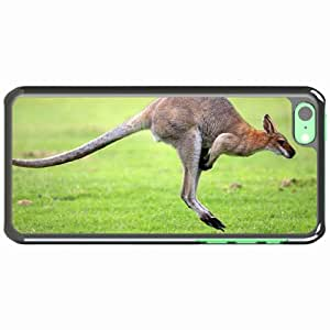 Customized Apple iPhone 5C PC Hard Case Diy Personalized DesignCover background grass plain kangaroo White