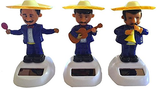 Solar Dancing Mariachi With Maracas - Blue 4.5""