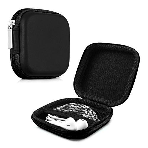 kwmobile Robuste Tasche Case für Kopfhörer in Schwarz - Hochwertige Schutzhülle für Ihre Kopfhörer