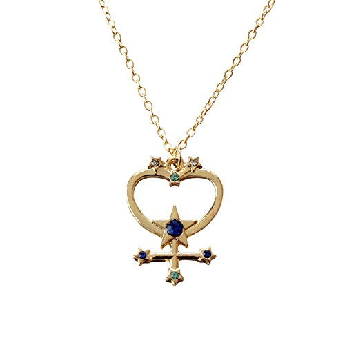 (METTU Sailor Moon Guardian Star Pendant Necklace Nine Planets Fashion Jewelry Science Lovers Gifts, Graduation Gifts, Birthday Gifts (Mercury))