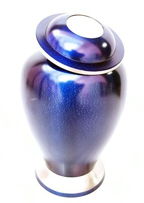 Sigma Marine International Large Blue Adult Cremation Urn by Beautiful Life Urns - Distinct Funeral Urn with a Stunning Deep Blue Finish (Large)