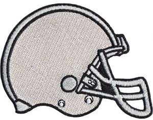 2.6 x 3 Embroidered PATCH SPORTS FOOTBALL HELMET Iron-On // Sew-On Officially Licensed