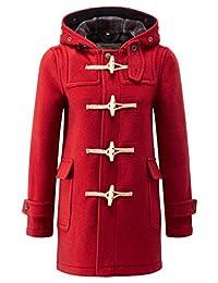 Womens Soho Elegance Slim Fit Duffle Red