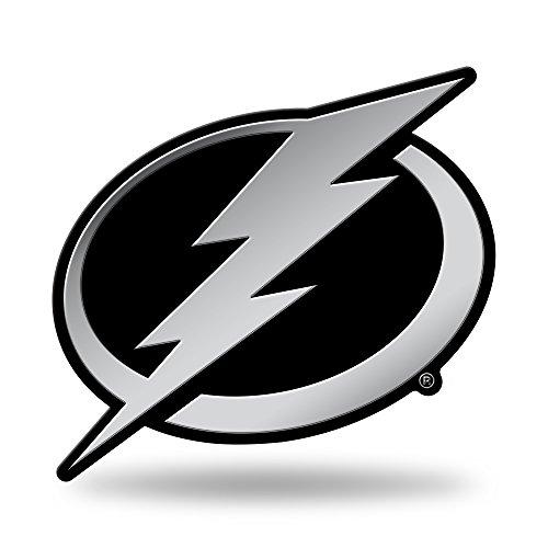 Rico Industries NHL Tampa Bay Lightning Chrome Finished Auto Emblem 3D Sticker