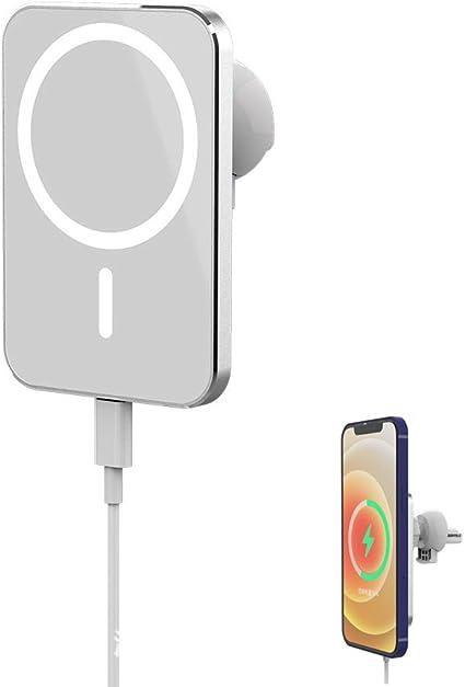 AEROBATICS Chargeur sans Fil Voiture Magn/étique 15W Support De T/él/éphone De Voiture De Charge Rapide pour Grille Da/ération Et Tableau De Bord pour IPhone 12 Compatible avec Magsafe