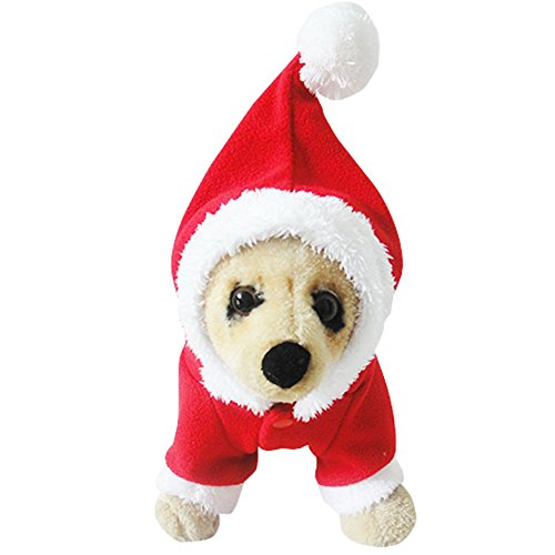 [MIXMAX Pet Puppy Dog Christmas Clothes Santa Claus Costume Outwear Coat Apparel Hoodie (Santa, X-Small)] (Dachshund Christmas Costumes)