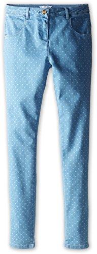 Price comparison product image Little Marc Jacobs Girl's Dot Print Denim (Big Kid) Bleach Jeans