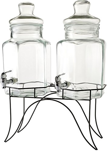 Circleware 66916/R Doppio Glassware, 1.3/2.6 gallon, ()