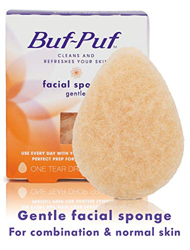 Buf-Puf Gentle Facial Sponge, Exfoliating, Dermatologist Developed, Reusable, Removes Deep-Down Dirt that can Cause…