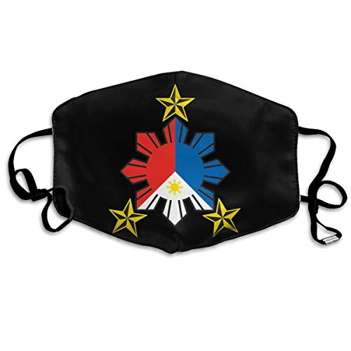 SyjTZmopre Philippine Flag Sun with Nautical Star Mouth Mask Unisex Printed Fashion Face Anti-dust Masks