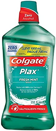 Enxaguante Bucal Colgate Plax Fresh Mint 1000Ml Promo Leve 1000Ml E Pague 700Ml