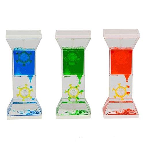 Płynna woda koło czasomierz zabawka do zabawy sensorycznej, Fidget Toy, Calming Toy, Sensory Visual Relaxation Toy, Office Desk Toy, zęby szczotkowanie Timer, ADHD Timer; 1 Piece Assorted Colors
