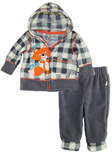 duck-goose-baby-boys-clever-as-a-fox-micro-polar-fleece-hooded-jacket-pant-set-gray-3-6-months