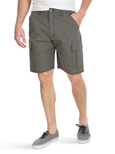 Wrangler Authentics Men's Classic Relaxed Fit Stretch Cargo Short, Olive drab Ripstop, 38