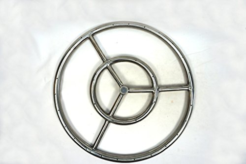 Stainless Steel Ring Burner Fire Pit 6'' to 36'' by Fire On Glass