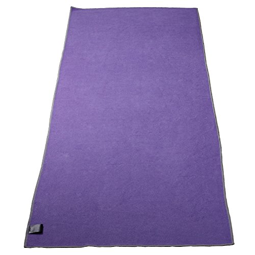 Syourself Yoga Towel-72″x24″- Non Slip,Ultra Absorbent,Soft -Perfect Microfiber Hot/Bikram/Skidless Yoga Towel-Protect Your Yoga Mat and Improve Your Grip(Yoga Towel: Purple 72) 41N3yhLpjXL