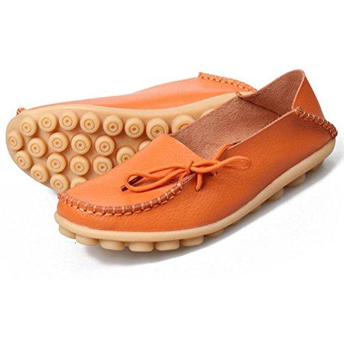 MatchLife - Bailarinas de Piel para mujer Naranja - naranja