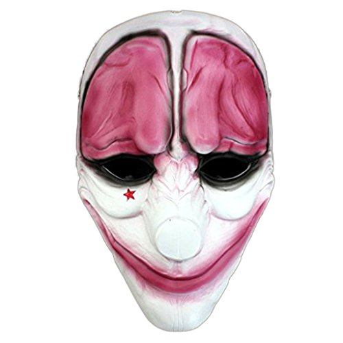 Cos-me Payday 2 Mask Cosplay Costume Halloween Masquerade Masks Props C