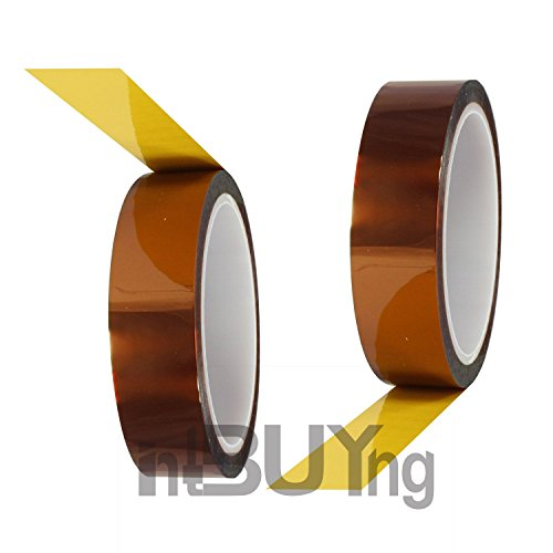 intbuying-2-rolls-10mm-x-33m-100ft-koptan-tape-high-temperature-heat-resistant-tape-sublimation-tape