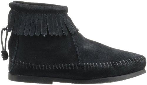 Velours Zipper Back Minnetonka Enfant Noir Boot 6SxtF4ngq