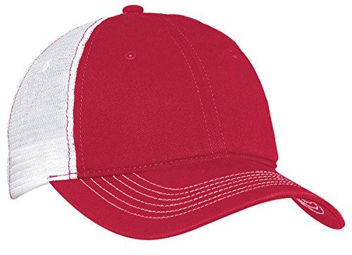 Men's Mesh Back Cap Red/White OSFA