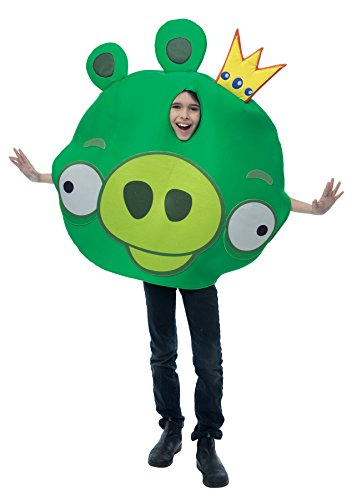 UHC Angry Birds King Pig Outfit Funny Theme Fancy Dress Child Halloween Costume, Child (Angry Birds King Pig Child Costumes)