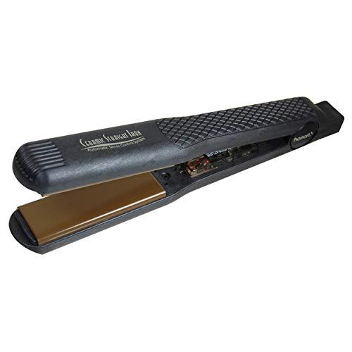 - HairArt H3000 Deluxe Ionic Tourmaline Ceramic Iron, Black, 1 1/8