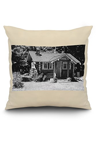 (Port Angeles, WA Rosemary Inn Lake Crescent Photograph (20x20 Spun Polyester Pillow, White)