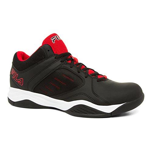 Fila Männer Bank Basketball Schuh Schwarz, Fila Rot, Weiß