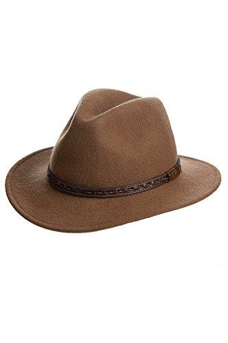 Overland Sheepskin Co Sierra Crushable Wool Safari Hat (Backpack Leather Sierra)