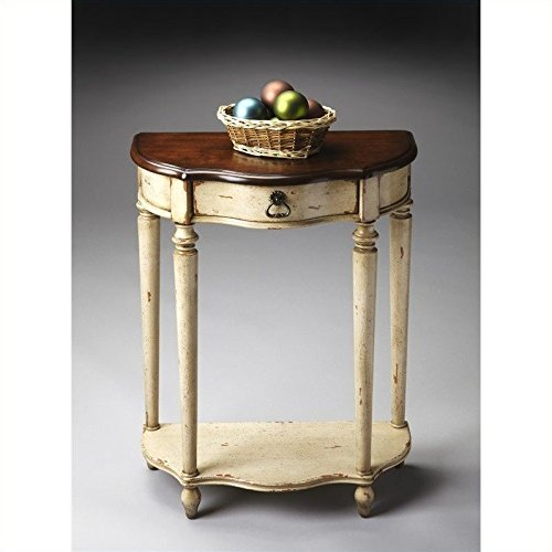 Butler Specialty Company Console Table, Vanilla/Cherry (Coffee Hand Painted Console)