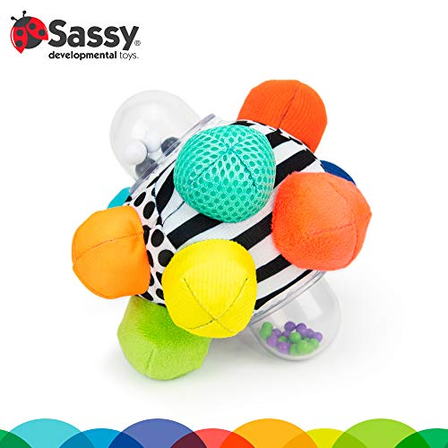 Sassy Developmental Bumpy Ball   Easy to Grasp Bumps Help Develop Motor Skills   for Ages 6 Months and Up   Colors May…