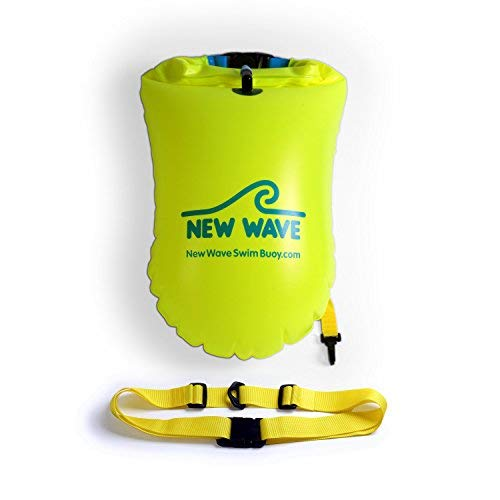 New Wave Swim Buoy - Swimming Tow Float Drybag Open Water Swimmers Triathletes - Light Visible Float Safe Training Racing