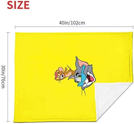 shihuainingxianruandans Couverture bébé Confort, Couverture Chaude Douce Tom et Jerry pour Poussette Nouveau-né bébé Voyage en Plein air