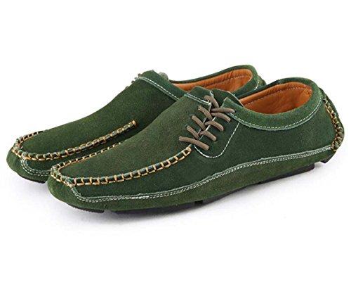 Morbidi Guida GSHE Uomo Mocassini Green Per Da Shoes O4BqT