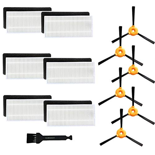 BBT(BAMBOOST) Replacement Parts Compatible DEEBOT N79S DEEBOT N79 Robotic Vacuums Accessories - Filters+ Side Brushes (Pack of 18)