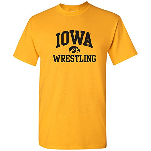 UGP Campus Apparel AS1104 - Iowa Hawkeyes Arch Logo Wrestling T-Shirt - Large - (Iowa Hawkeyes Wrestling)