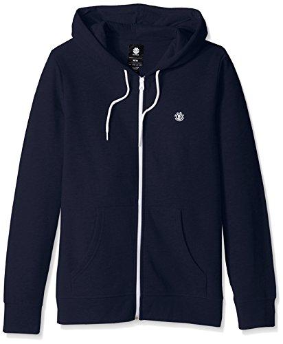 Embroidery Navy Blue Hoodie - 1