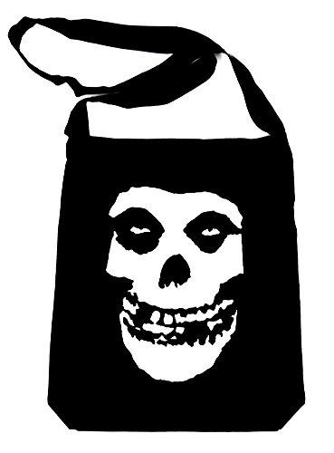 Deathrock Punk Rock Misfits Skull Sling Bag Tote
