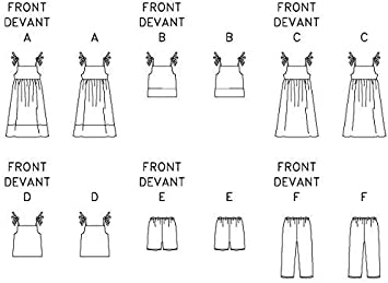 Butterick Childrens Easy Sewing Pattern 3477 Dresses Tops /& Shorts Ages:...