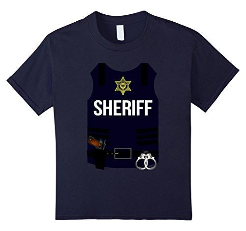 Kids Sheriff Vest Halloween Costume Shirt - Cops Men Women Youth 12 (Halloween Costume Bulletproof Vest)