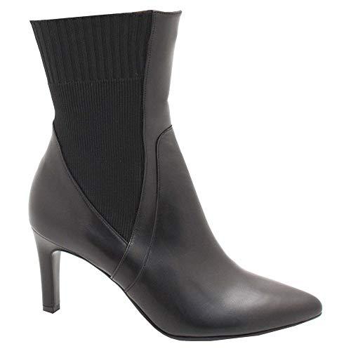 Black Sock Leather Heel Stiletto Peter Kaiser Ankle Boots ZwORwxq0