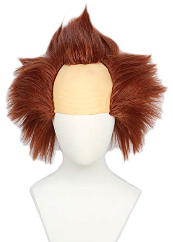 Linfairy Unisex Short Bald Wig Wig Halloween Costume Wig for Adult -