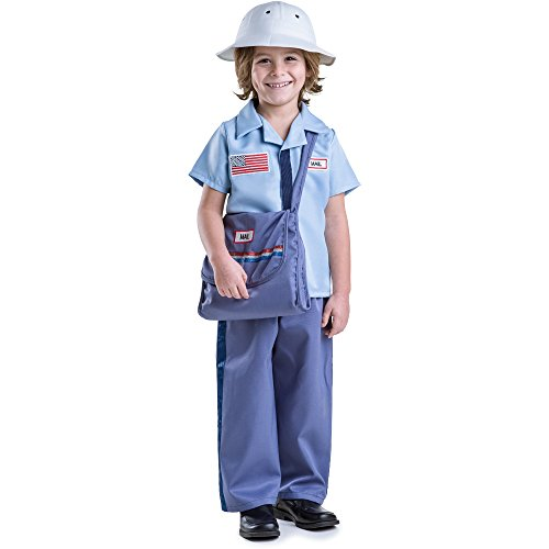 Dress Up America Mail Carrier Costume Set - Size Small (Mailman Costume For Kids)